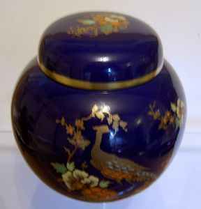 Carlton Ware 'Pheasant' Small Ginger Jar with Lid - 1960s - SOLD